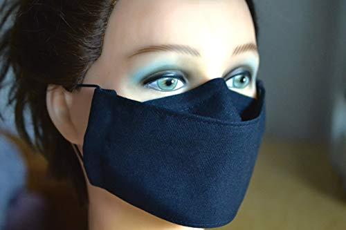 Mundschutz/Schutzmaske schwarz (12 Farben uni)