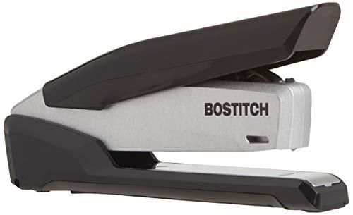 Bostitch Office Metal Executive Stapler - 3 in 1 Stapler - One Finger, No Effort, Spring Powered Stapler, Black/Gray (INP28), 28 Sheets