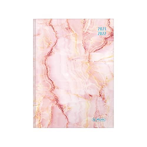 herlitz 50034826 schoolagenda 2021/2022 Basic, A5, motief: marmer roze, 1 stuk