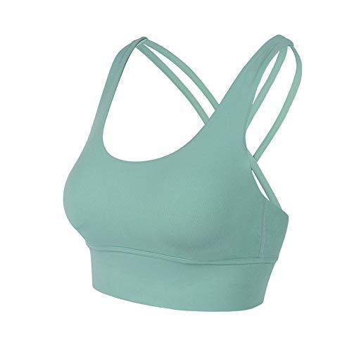 Cwang Camisola para Mujer Sujetador Camisola en Forma de V Correa sin Costuras para Dormir y Correa para cojín Desmontable,Verde Claro,XL