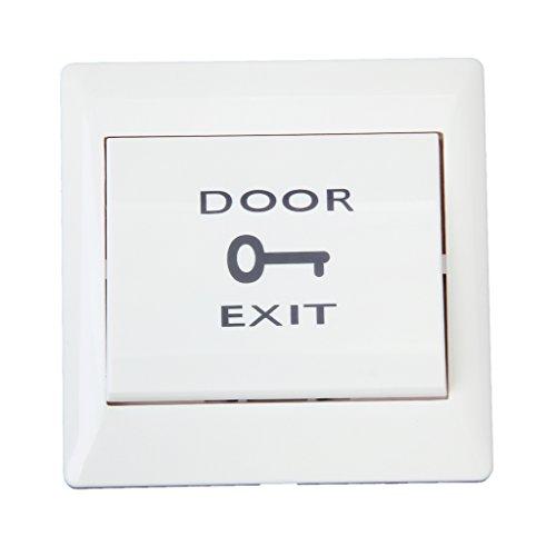 F Fityle Interruptor de Botón de Liberación Pulsador de Salida de Puerta para Control de Acceso Eléctrico