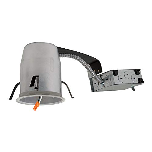 HALO Recessed H995RICAT-6PK LED Remodel Housing IC Air-Tite Shallow Ceiling 120V Line Voltage (6 Pack)