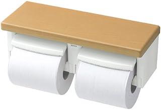TOTO 二連紙巻器 棚付き(木質) 樹脂製 ナチュラルウッド YH600FM#NR2