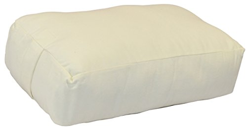 YogaAccessories (TM Rectangular Cotton Yoga Bolster - Off White