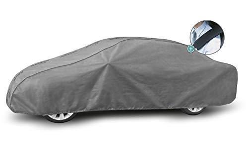 Autoplane MG L Sedan Vollgarage geeignet für VW Jetta VI 2010-2018 atmungsaktiv Schutzplane Autoabdeckplane - obere Membrane wasserdicht + Gurtschoner