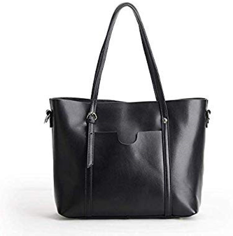Bloomerang New AllMatch Fashion Leather Handbag Tote Bag Large Span Single Wallet Purse Luxury Women Designer TOPHandle Shoulder Bag color Black