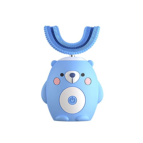 Kids Electric Toothbrush, Ultrasonic Autobrush Toothbrush Kids with 6 Modes, Whole Mouth Baby Toothbrush, U Shaped Toothbrush of 360° Oral Cleaning for Kids (2-6 Year)(Blue)