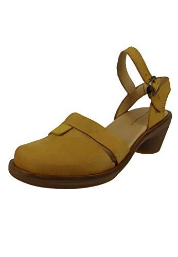 El Naturalista N5359 Aqua dames leer sandalen sandalen lederen curry geel