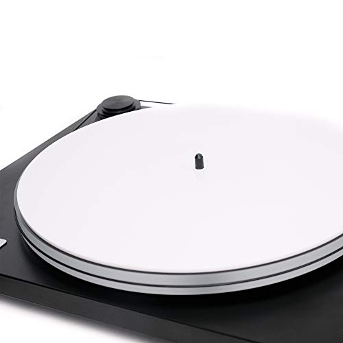 Acrylic Turntable Mat - White - LP Slipmat with Record Label Recess