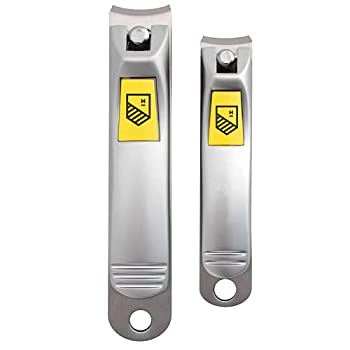 Harperton Nail Clippers Set - 2 Pack Stainless Steel Professional Fingernail & Toenail Clippers for Thick Nails
