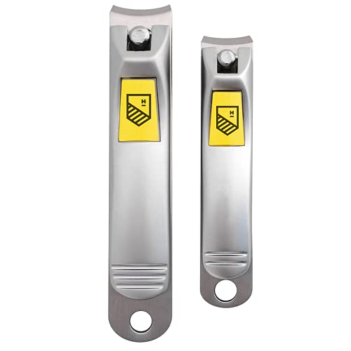 Harperton Nail Clippers Set - 2 Pack Stainless Steel, Professional Fingernail &...
