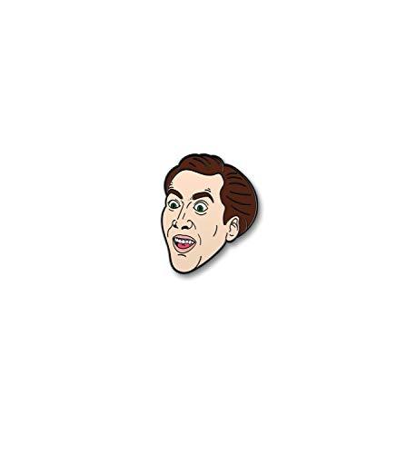 Nicolas Cage Pin Enamel Accessory Pins Actor Meme Face Movie