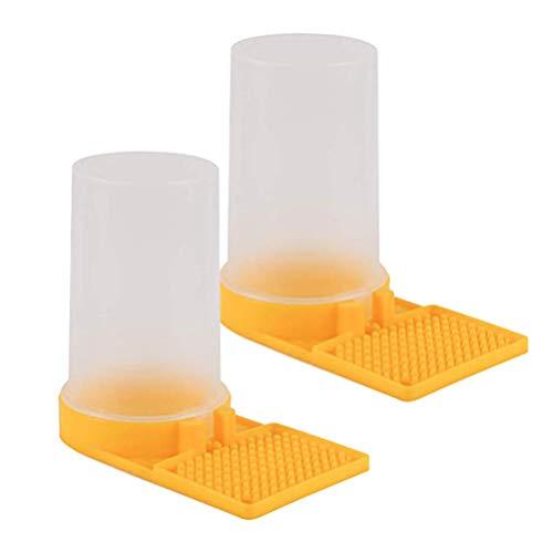 Hemoton 2PCS Bienen Wasser Feeder Bienen Eingang Feeder Flüssigkeit Fütterungsanlage Wasserspender Kunststoff Imkereibedarf Imkerei Imker Ausrüstung Zubehör