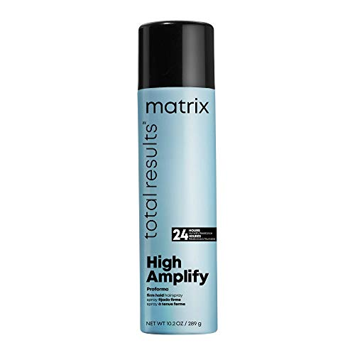 MATRIX Total Results High Amplify Proforma Firm Hold Hairspray | Adds Intense Volume & Shine | Silicone-Free | For Wavy & Curly Hair | 10.2 Oz.