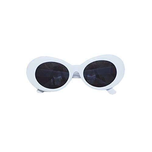 Dpatleten Gafas de Sol con Montura Gruesa Ovalada Retro audaz de Verano a la Moda para Mujer, Gafas de protección UV con Lente Redonda de 51mm