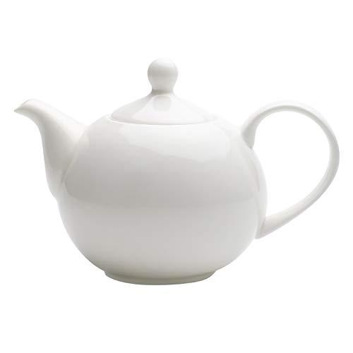 QWEASDF Caldera de té Blanca del hogar Bone China Cafetera Tetera de cerámica de Gran tamaño fría Hervidor Inglés té de la Tarde Vajilla Tetera roja Flor de la Tetera de la Tapa Exquisito Eleg