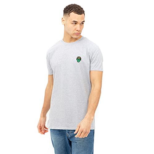 Marvel Hulk Head EMB Camiseta, Gris, M para Hombre