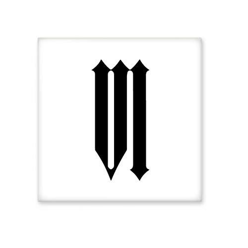 DIYthinker Romeinse cijfers Zes In Zwart silhouet Keramische Bisque Tegels Badkamer Decor Keuken Keramische Tegels Wandtegels Medium