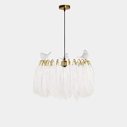 Kroonluchter kamer design licht romantiek lief zacht leven warm atmosfeerunieke ogen elegante babysfeer De gelijkmatig verdeelde mooie witte veren hanglamp