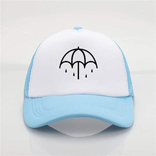 AJSJ Fashion Bring Me The Horizon Band Printing Casquette De Baseball Hommes Et Femmes Summer Trend Cap Sun Beach Visor Hat, Blue