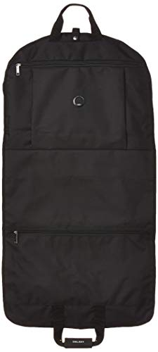 DELSEY Paris Garment Bags Lightweight Hanging Travel Sleeve, Black, One Size