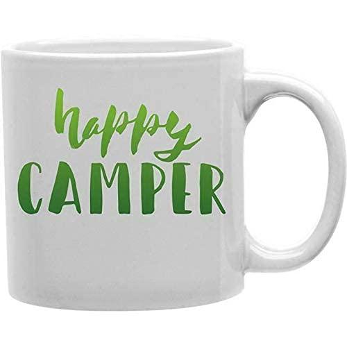Mark Mug Imaginarium Goods Hcamper Green - Taza de café con texto en inglés 'Happy Camper'