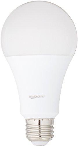 AmazonBasics 100 Watt Equivalent, Daylight, Non-Dimmable, 15,000 Hour Lifetime, A21 LED Light Bulb | 6-Pack
