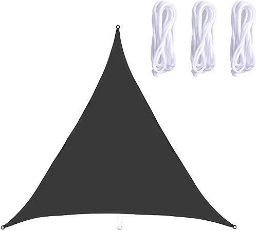 QYHSS Auvent Protection Solaire, Protection UV Hydrofuge Triangle Shade, Jardin Balcon Et Terrasse Protection Contre Les IntempéRies En Polyester, Pour Jardin ExtéRieur, Gris (3 * 3M)