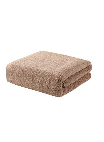 CORAFRITZ Strapazierfähiges Badetuch, schnell trocknend, sehr saugfähig, 1 Waschlappen, 69,9 x 140,9 cm. Gr. 27*140 cm, khaki