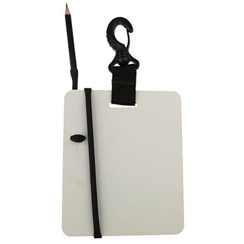 Gazechimp Unterwasser Schreibtafel + Bleistift Set mit Swivel Karabiner - Unterarmschreibtafel für Taucher
