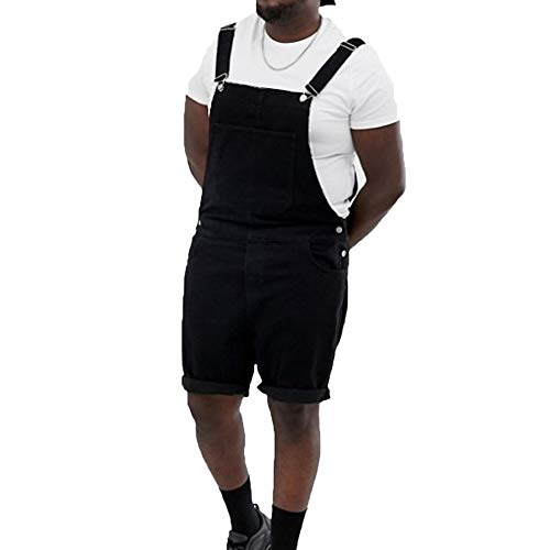 Herenmode Krimpen Denim Shorts Jumpsuit Verstelbare schouderband Korte jeans Overalls Tuinbroek