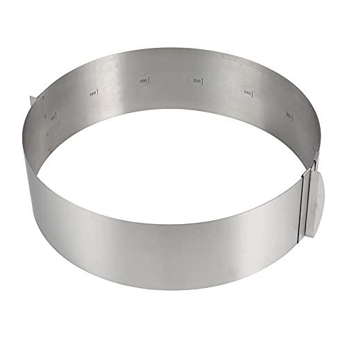 Acero inoxidable retráctil círculo mousse anillo molde herramienta para hornear conjunto de moldes de pastel tamaño ajustable
