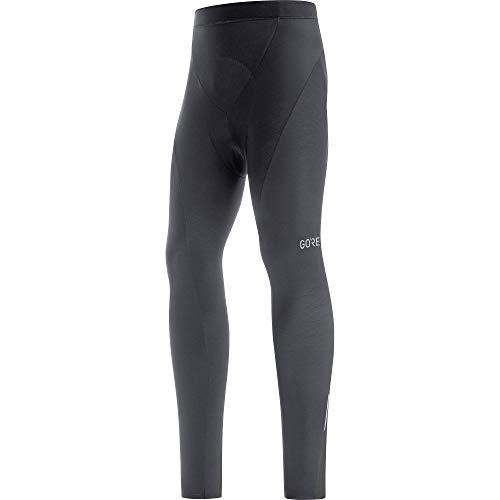 GORE WEAR Pantaloni termici da ciclismo a compressione per uomo, Con fondello, C3, M, Nero