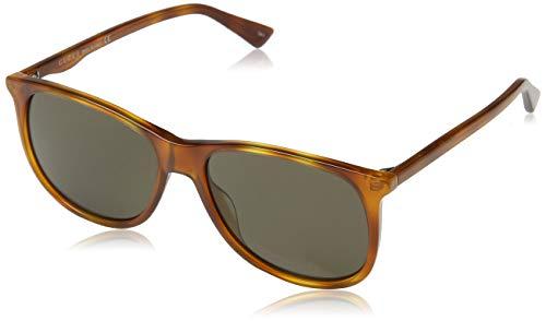 GUCCI Unisex-volwassenen GG0263S-002 zonnebril, bruin (Havana Acetato), 57