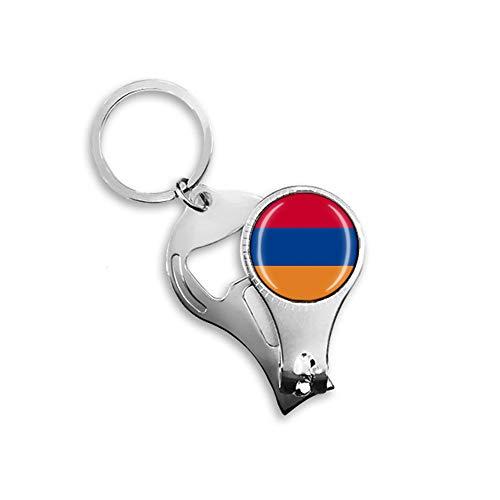 Armenien Nationalflagge Nagelknipser Flaschenöffner Schlüsselanhänger Rucksack Anhänger Schlüsselanhänger Geschenk Reise Souvenir Multifunktionskombination