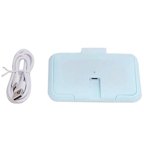 Tamkyo Calentador de Toallitas para BebéS USB Dispensador de Toallas HúMedas TéRmicas Cubierta de la Caja de Calentamiento de la Servilleta Inicio/Coche Calentador de Papel Tisú