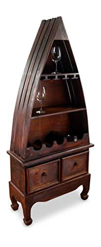 livasia Weinflaschenregal, Flaschenregal, Vinothek, Weinschrank (Boot 145cm)