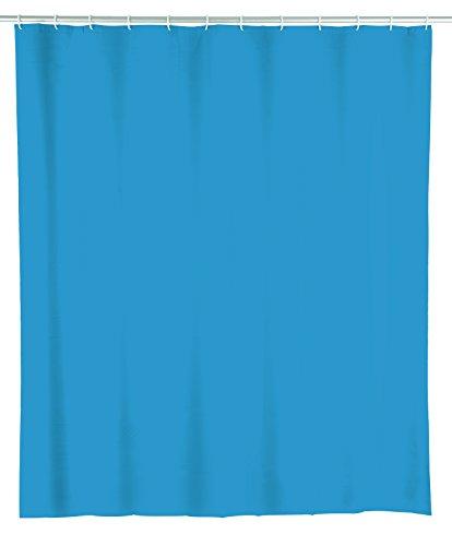 Wenko 22485100 Duschvorhang Ocean Blue, wasserdicht, leicht zu pflegen, Kunststoff (PEVA), 180 x 200 cm, blau