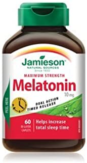 Jamieson Melatonin 10 mg Timed Release Dual Action, 60 caps