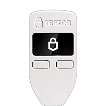 Trezor One - Crypto Hardware Wallet - The Most Trusted Cold Storage for Bitcoin Ethereum ERC20 and Many More  White