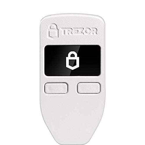 Trezor One - Cryptocurrency Hardware Wallet - The Most Trusted Cold Storage for Bitcoin, Ethereum, ERC20 and Many More (White)