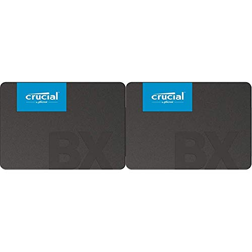 Crucial BX500 2TB 3D NAND SATA 2.5-Inch Internal SSD, up to 540MB/s - CT2000BX500SSD1 & BX500 1TB 3D NAND SATA 2.5-Inch Internal SSD, up to 540MB/s - CT1000BX500SSD1