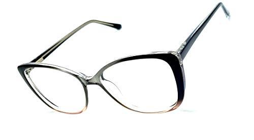 Óculos Armação Feminino Olho De Gato Yf-8024 Lentes Sem Grau (Degrade)