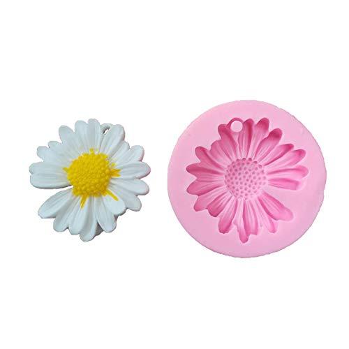 Stampo per fiori in silicone margherita confezione da 3, stampo per produzione di resina non appiccicosa, argilla di sapone cioccolato zucchero artigianale da forno torta fai da te stampo per fiori