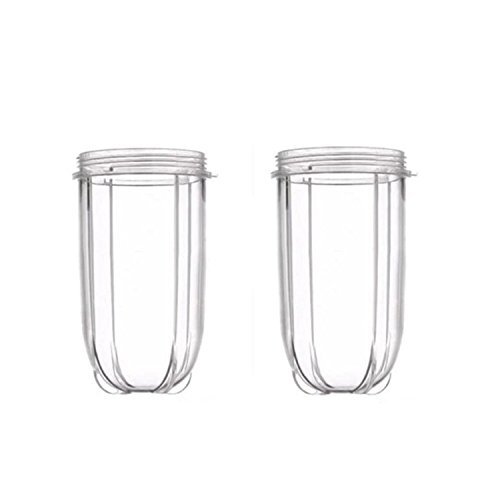 Sduck Tall Cups for 250w Magic Bullet Blender Juicer - 2 Packs - 16oz Replacement Cup (Not for Nutribullet)