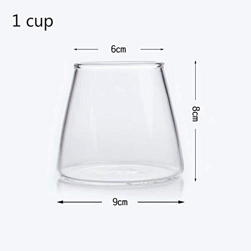 Waterglas whisky kristal bierglas staaf transparant wijnglas huis hittebestendig, 1 cup lili (Color : 1 Cup)