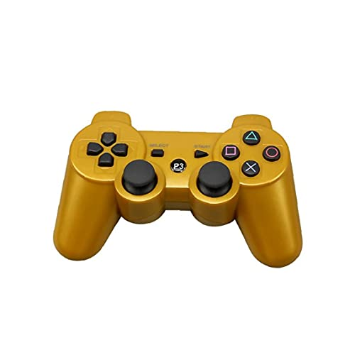 Controller di gioco wireless Bluetooth standard Gamepad Remoto per PS3 PlayStation Shock Gold Electronics Electronics Newsletter