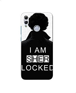 Sher Locked Printed Back Cover For Xiaomi Redmi Note 7 - Black White