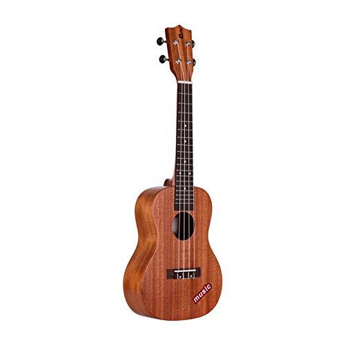 ZDAMN Ukelele 23 Pulgadas Concert Ukulele de Madera de Caoba Hawaii Guitarra for niños y Adultos Principiante de Ukelele para Principiantes (Color : Natural, Size : 23 Inch)