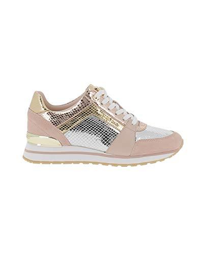 Michael Kors Billie Sneakers aus Wildleder mit metallischen Einsätzen, Pink - Rosa - Größe: 36 EU